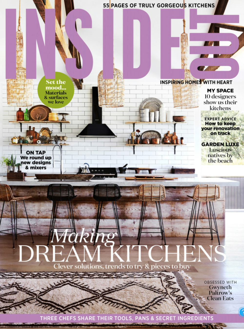 Inside Out March 19 - Woollahra residence by Alexandra Kidd Design Styling by Corina Koch