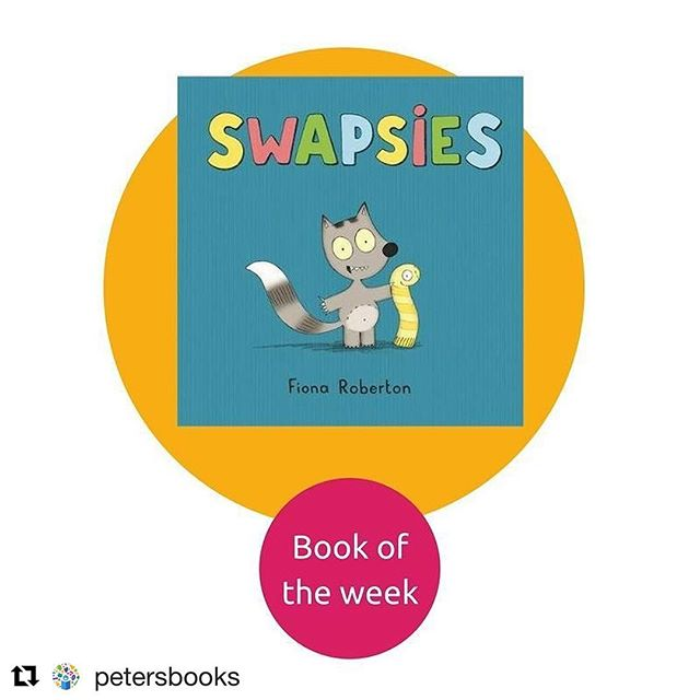 Super chuffed about this too @emma.layfield @hachettekids @petersbooks Thank you! 🎉💛☀️👍 Swapsies? 👉💛👈 . . . . . #fang #swapsies #picturebook #picturebooks #fionaroberton #kidlitart #littlebookworm #childrensbooks #childrensillustration #kidlit #kidsbooks #kidsbookstagram #childrensliterature #illustration #kidsillustration