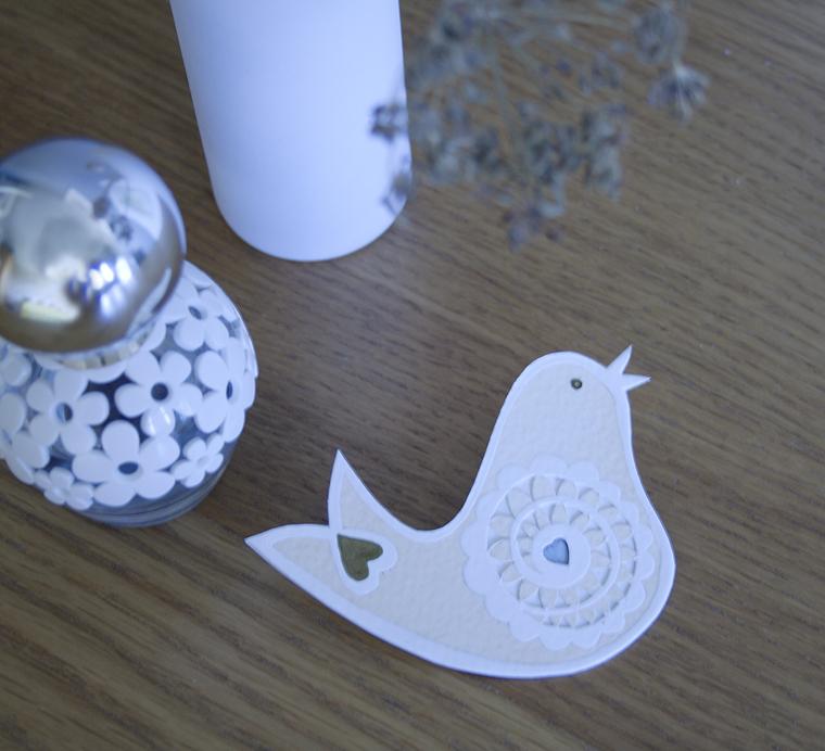 Papercut Birdie Brooch