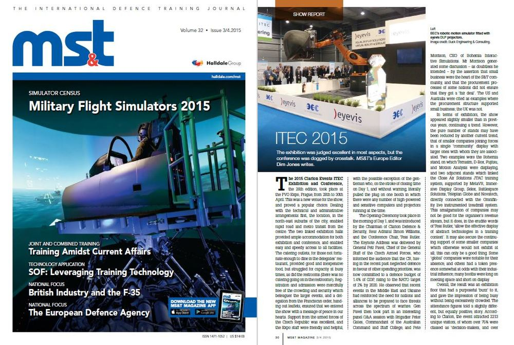 """Great comment in  MST report  on the BEC motion-simulator during ITEC 2015: """"I have to say that I found the experience masochistically enjoyable....."""""""