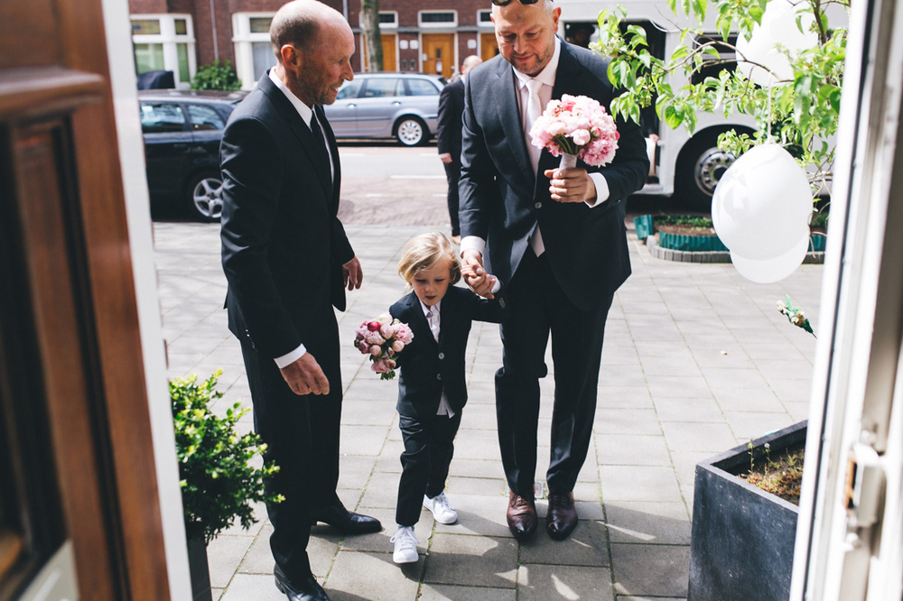 First look with the groom and his son