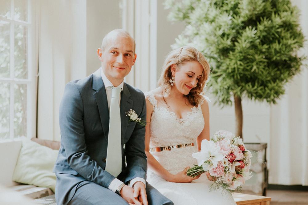 Trouwerij bij trouwlocatie hortus botanicus leiden