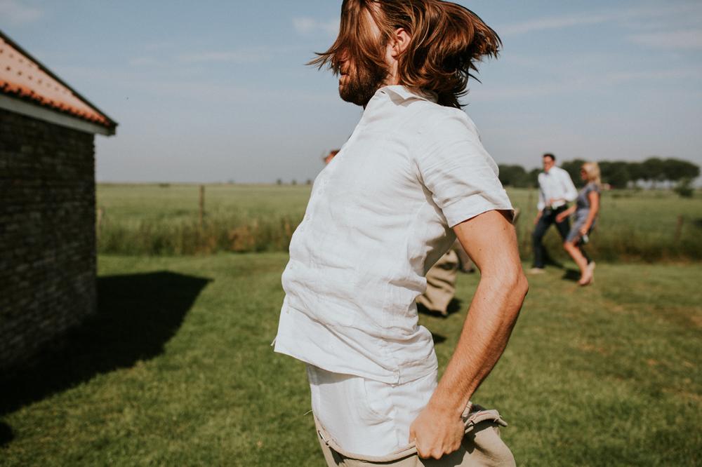 zakkenlopen is een leuke activiteit voor je bruiloft