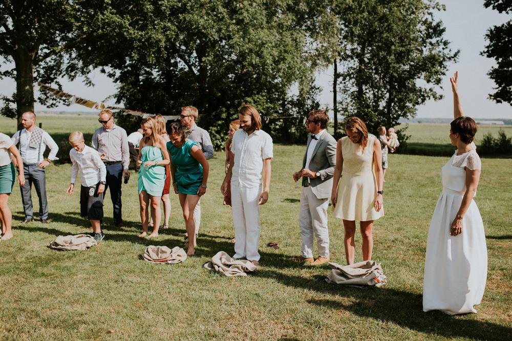 klaar voor de start, zakkenlopen op je bruiloft