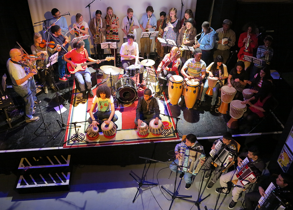 A Grand Union Youth Orchestra masterclass at Rich Mix