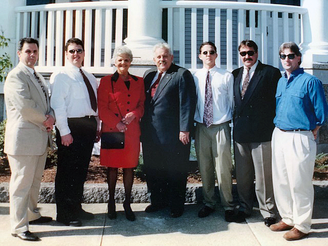The Lemire family at the closing in 1994.