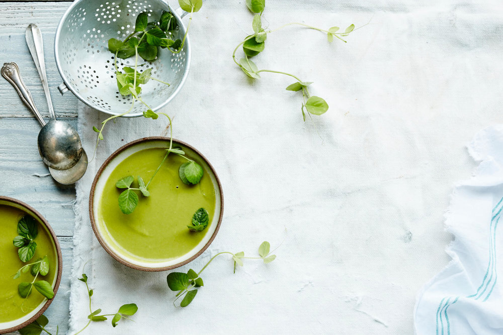 Sweet Pea and Mint Soup - Rebecca Katz