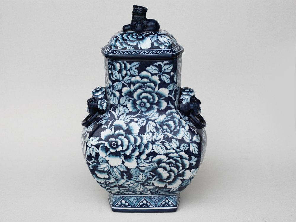 富貴如意將軍罐   尺寸(長x 寬x 高):16.0 x 25.0 x 36.0 cm