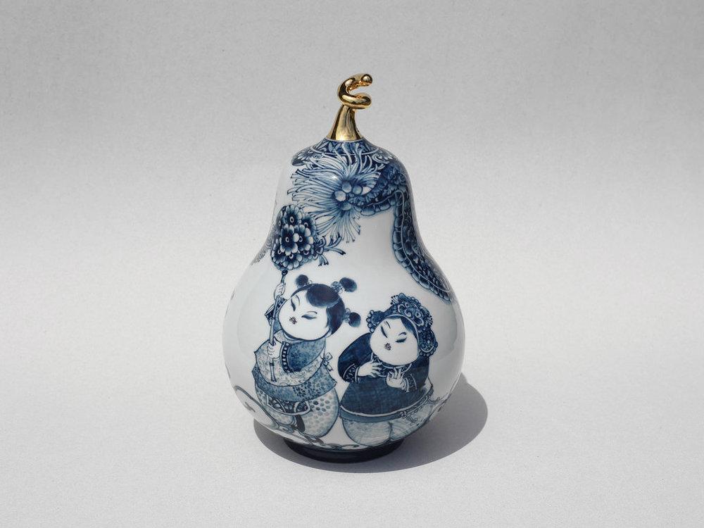 童戲葫蘆瓶   尺寸(長x 寬x 高):16.0 x 16.0 x 27.0 cm