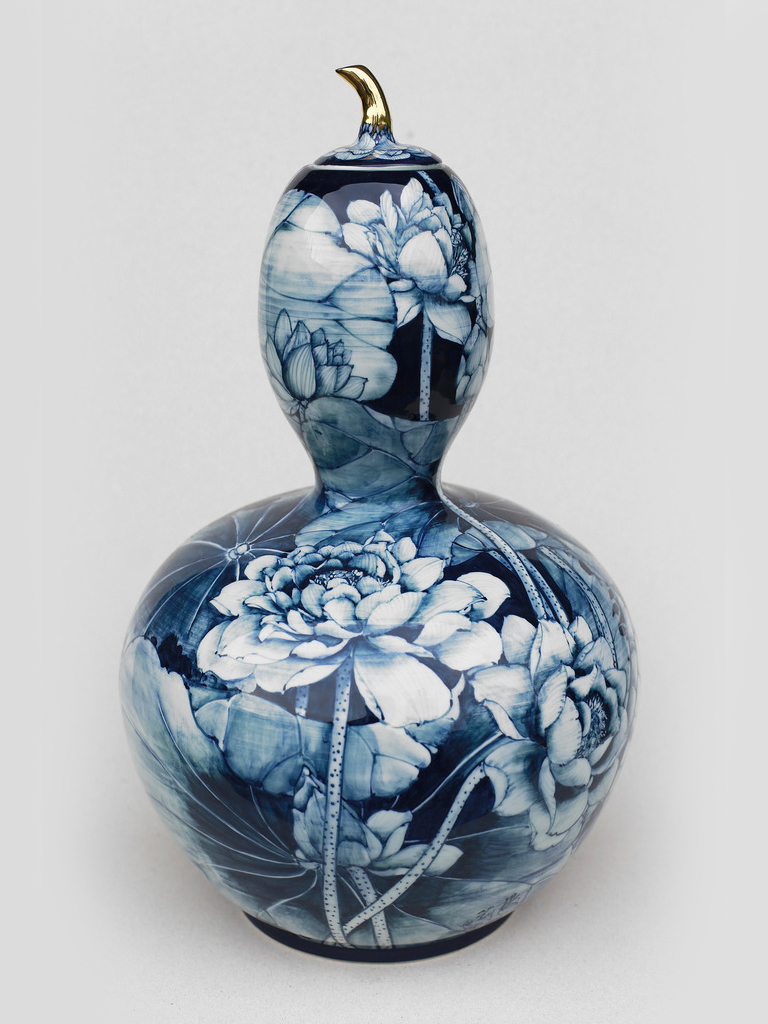 夏荷葫蘆瓶   尺寸(長x 寬x 高):32.0 x 32.0 x 65.0 cm