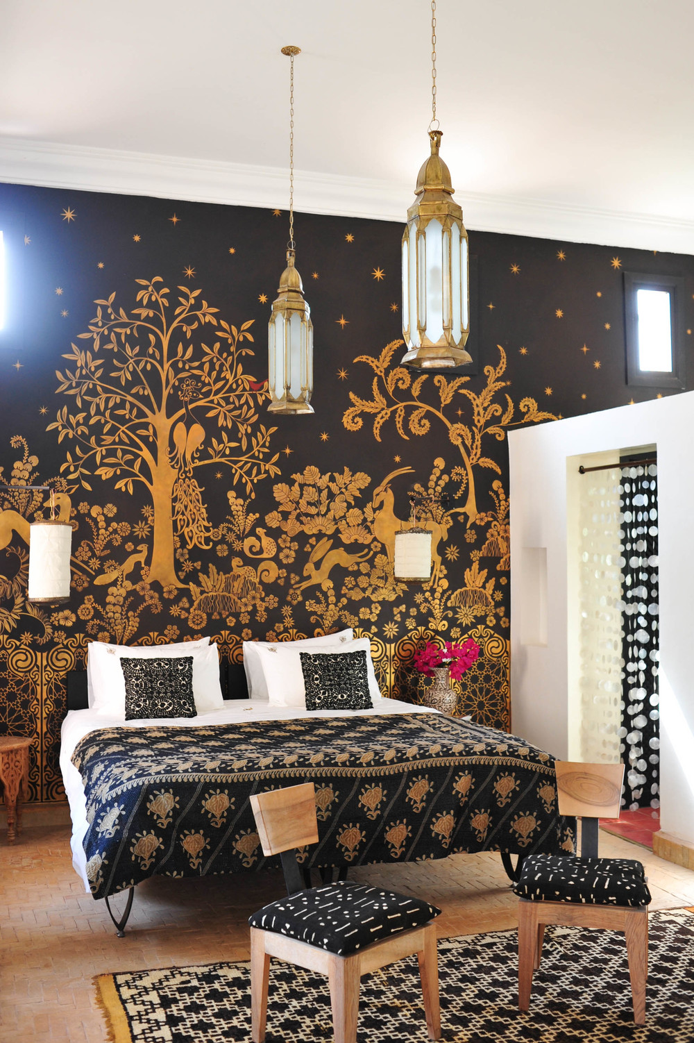 Peacock Pavilions boutique hotel in Marrakech, Morocco – Design by M. Montague - Golden Gazelle, Atlas Pavilion