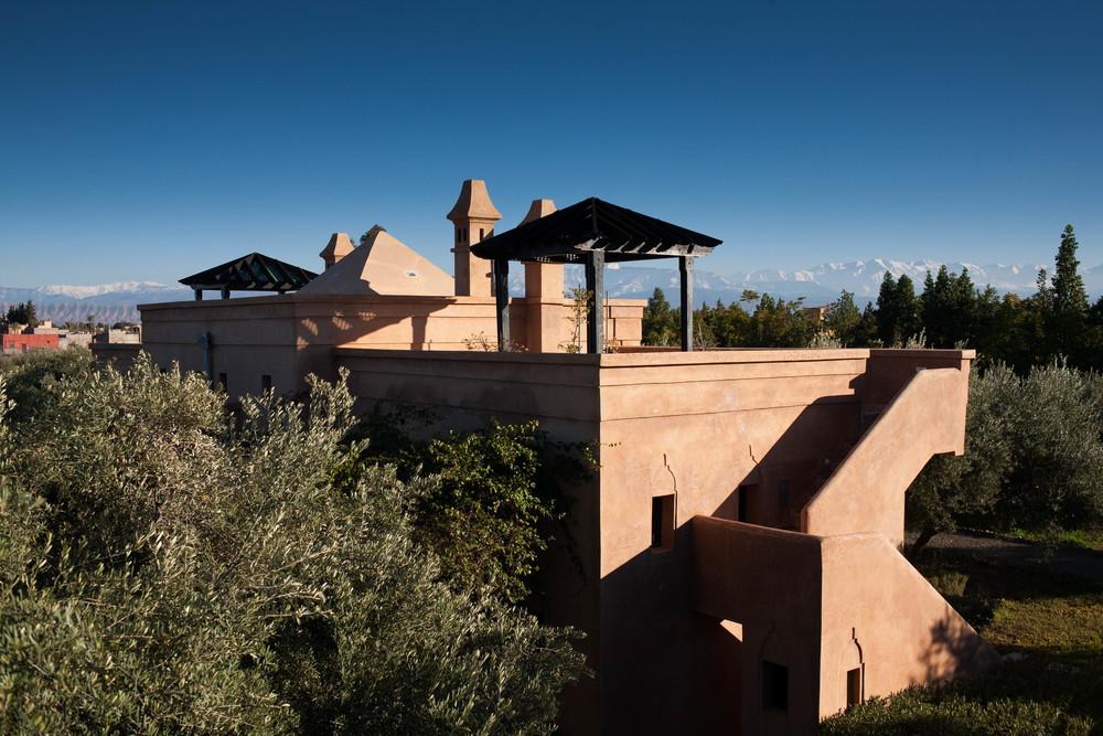 Peacock Pavilions boutique hotel in Marrakech, Morocco – Design by M. Montague - Atlas Pavilion View