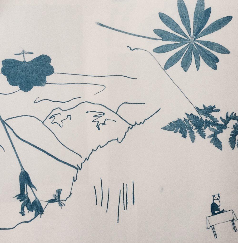 Utsnitt av trykk, av Hedda Grevle Ottesen
