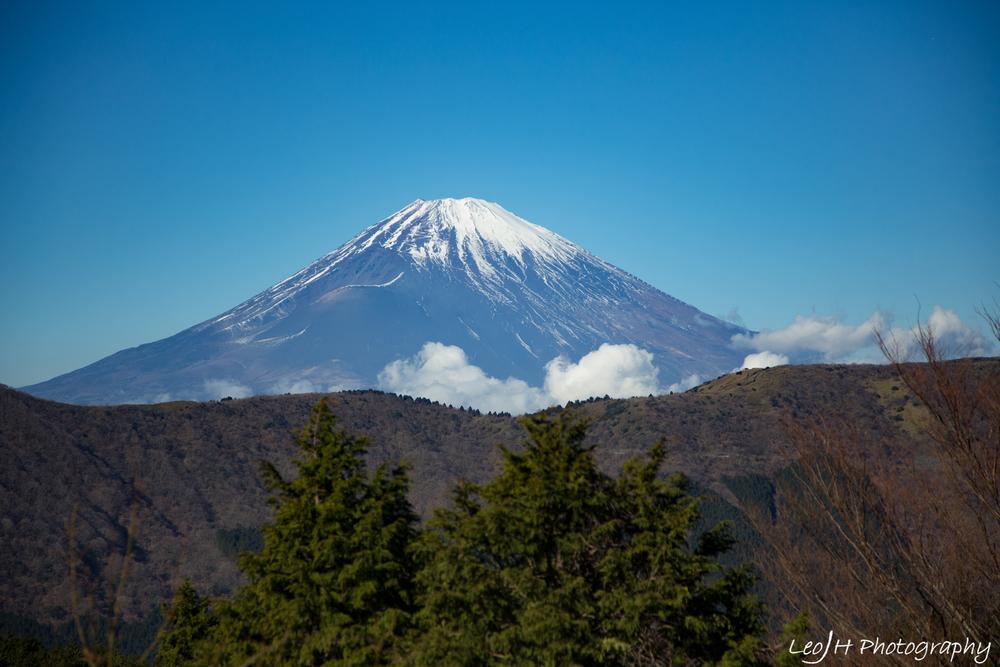 Superb view of Mt Fuji at the cable car station at Ubako