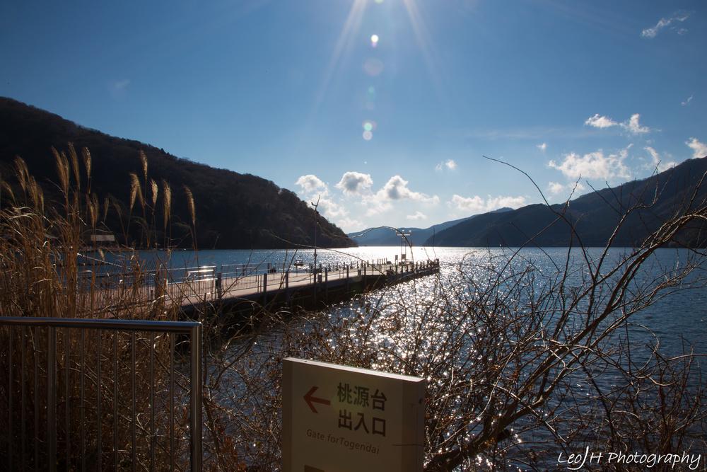 Ashinoko lake from ground level