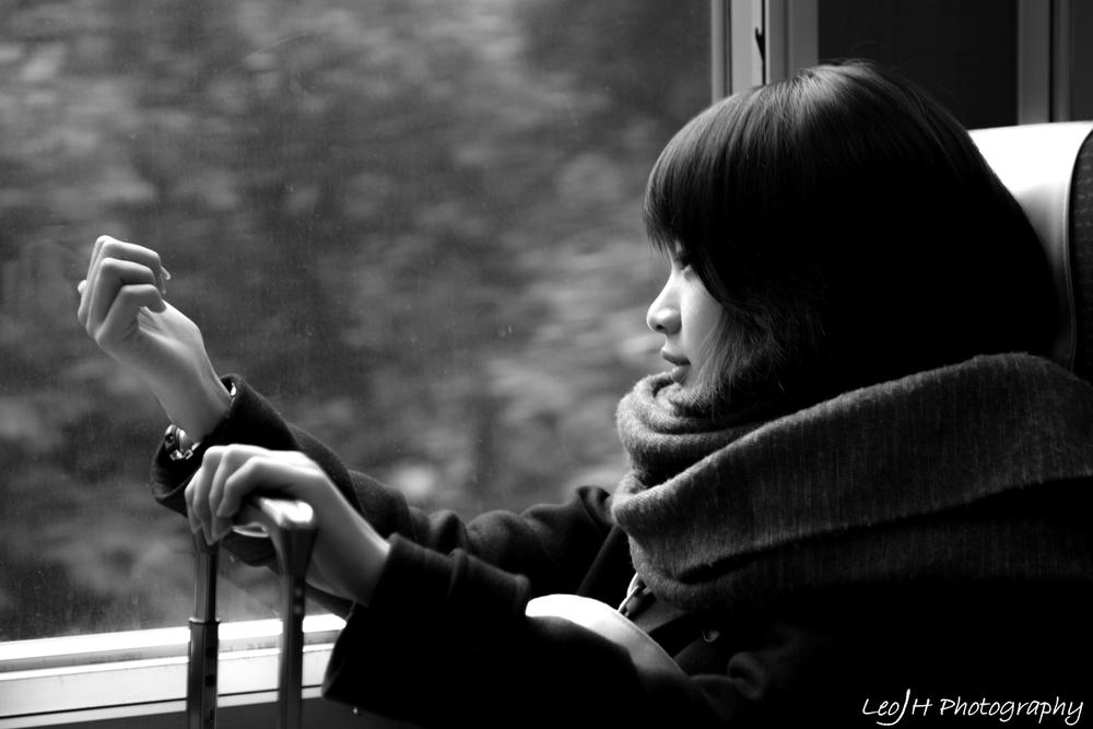 Photo of the trip: random cute girl on the train.