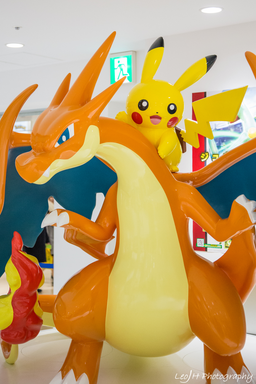 My childhood is back! Charizard and Pikachu at the Pokemon Center