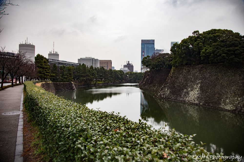 Perimeter of the Imperial Castle, surrounded by a huge moat