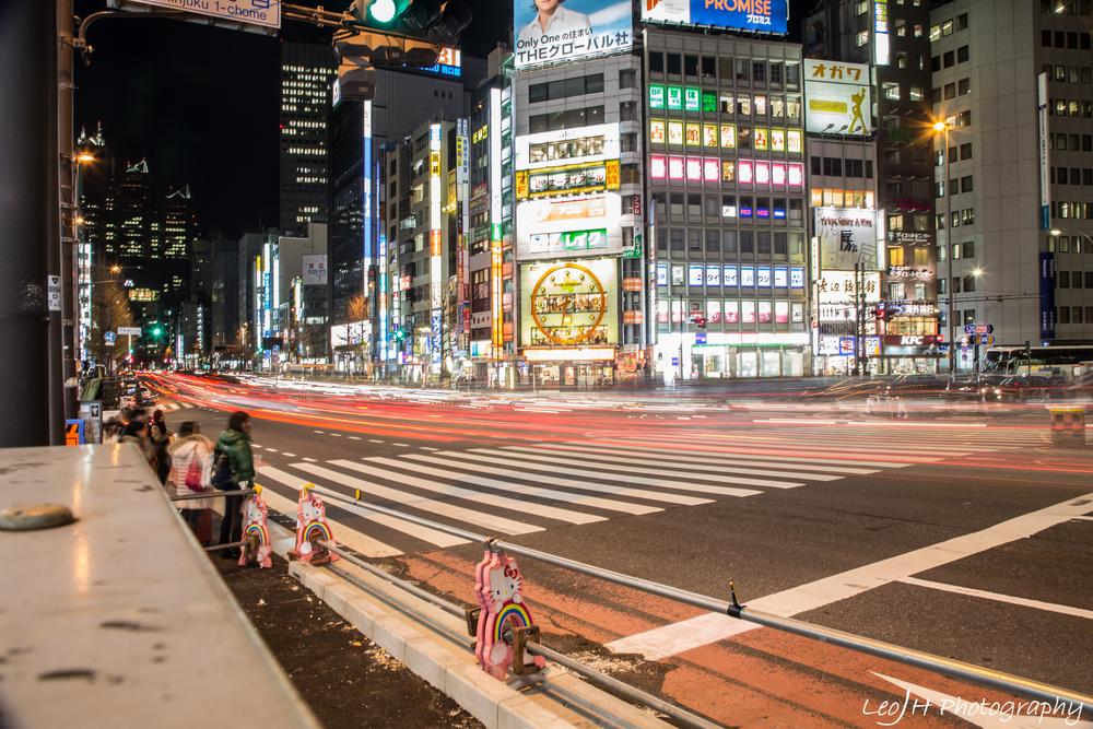 Streets of Shinjuku at night