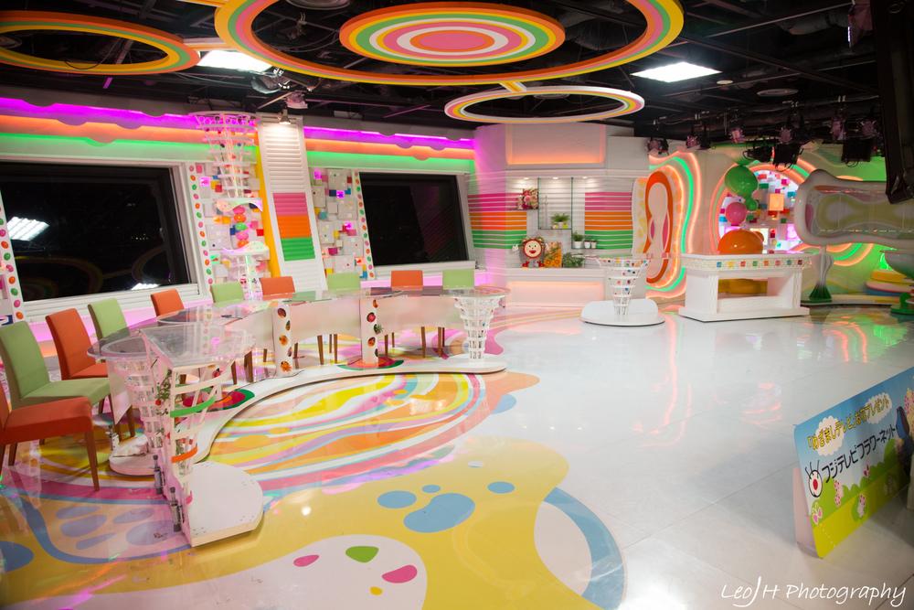 """Mock-up set of Fuji TV programme """"Mezamashi TV"""""""