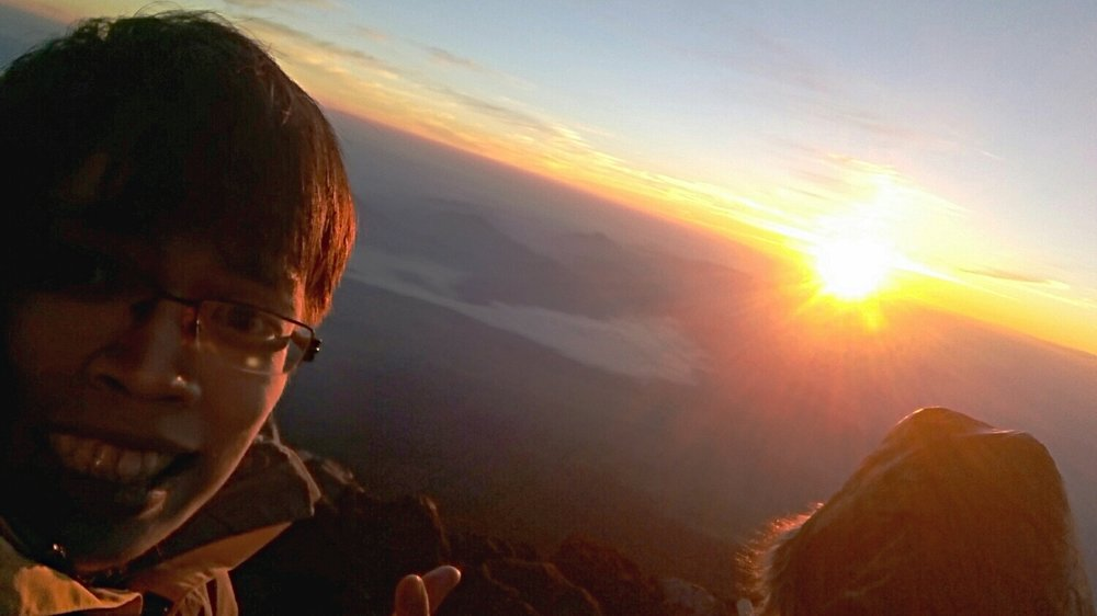 What's a Mt Fuji sunrise without taking a photo with it?
