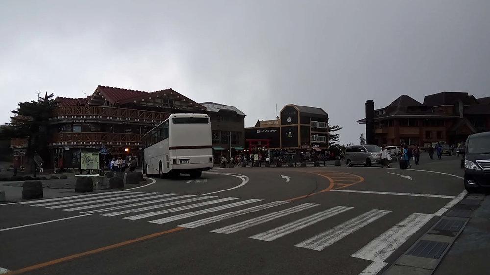Arriving at Mt Fuji 5th Station