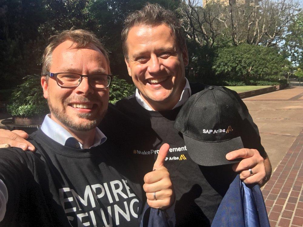 CEO Dan Swift with Henrik Smedberg, RVP SAP Ariba ANZ