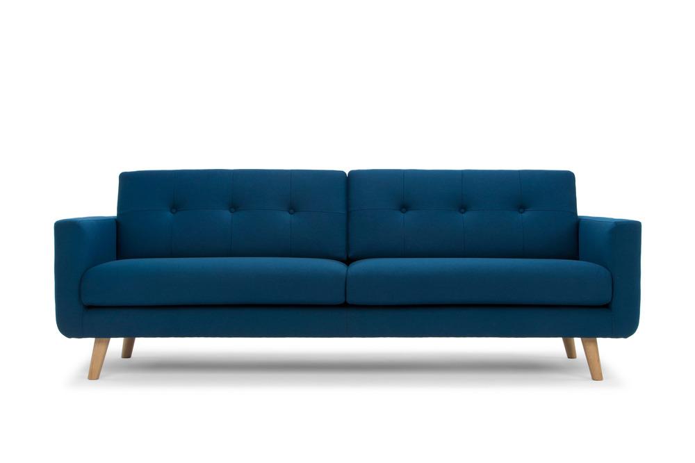 Olav Three Seater   Nordic Blue In Wool