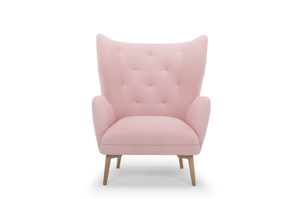Regal Chair in Dusty Pink