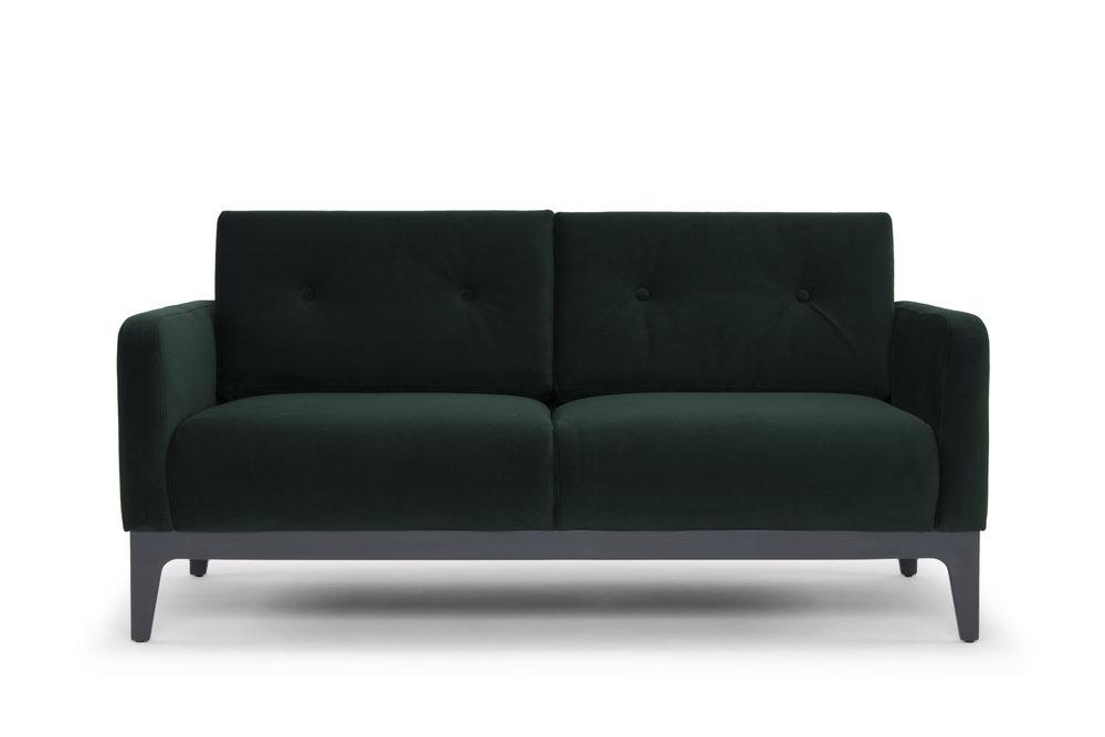 Century Two Seater Sofa   Dark Green Velvet