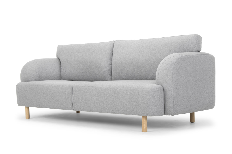 Molna three seater sofa light grey wool — Calvers Suvdal Furniture