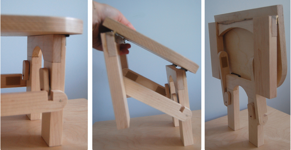 folding process for stool