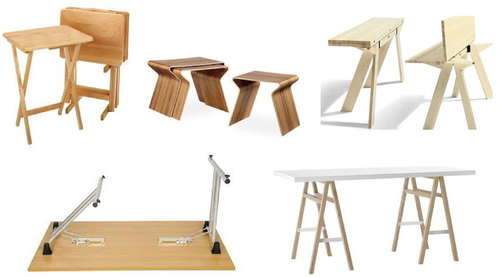 folding table hardware, tables that nest