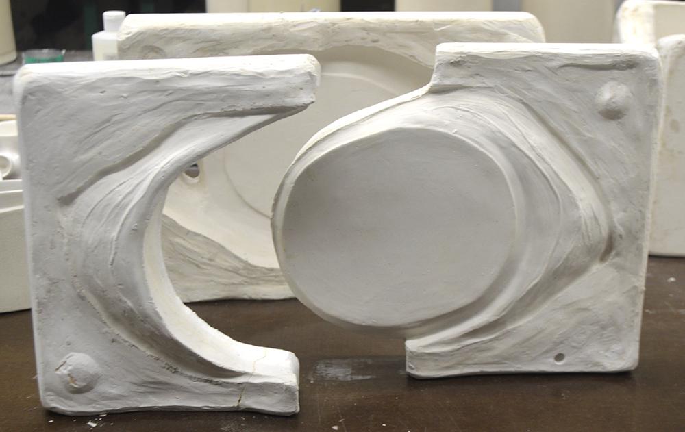 3-part plaster mold