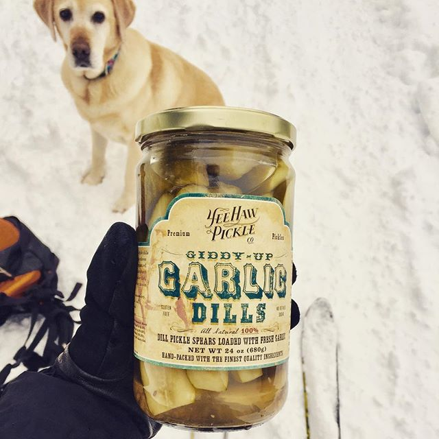 You going to finish those? #trailsnack #thatlook #pickleobsession
