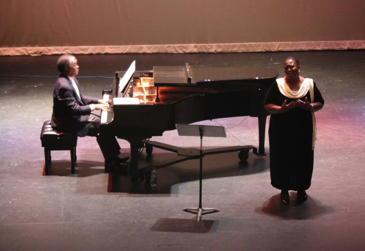 Brenda Wimberly with accompanist LaDonald Ensley