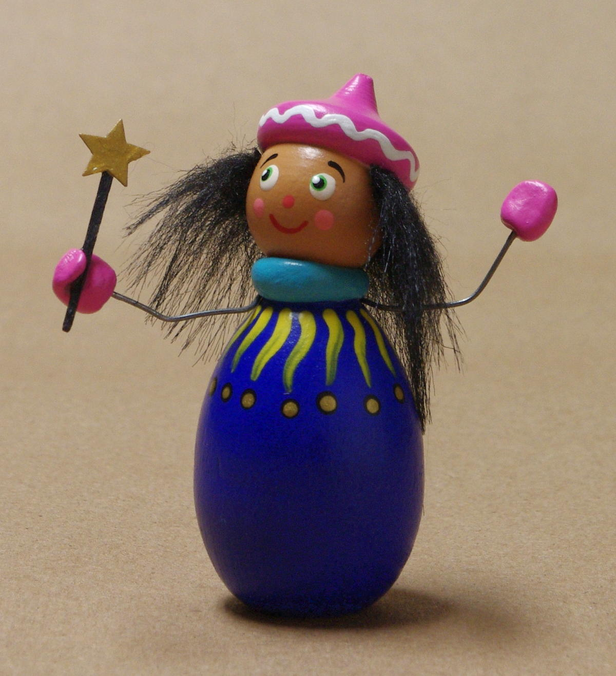 Christiane's Blue Wizard Ornament