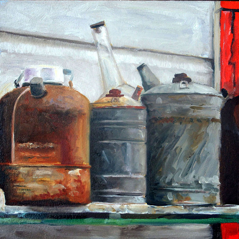 Three Gas Cans by Julie Crews