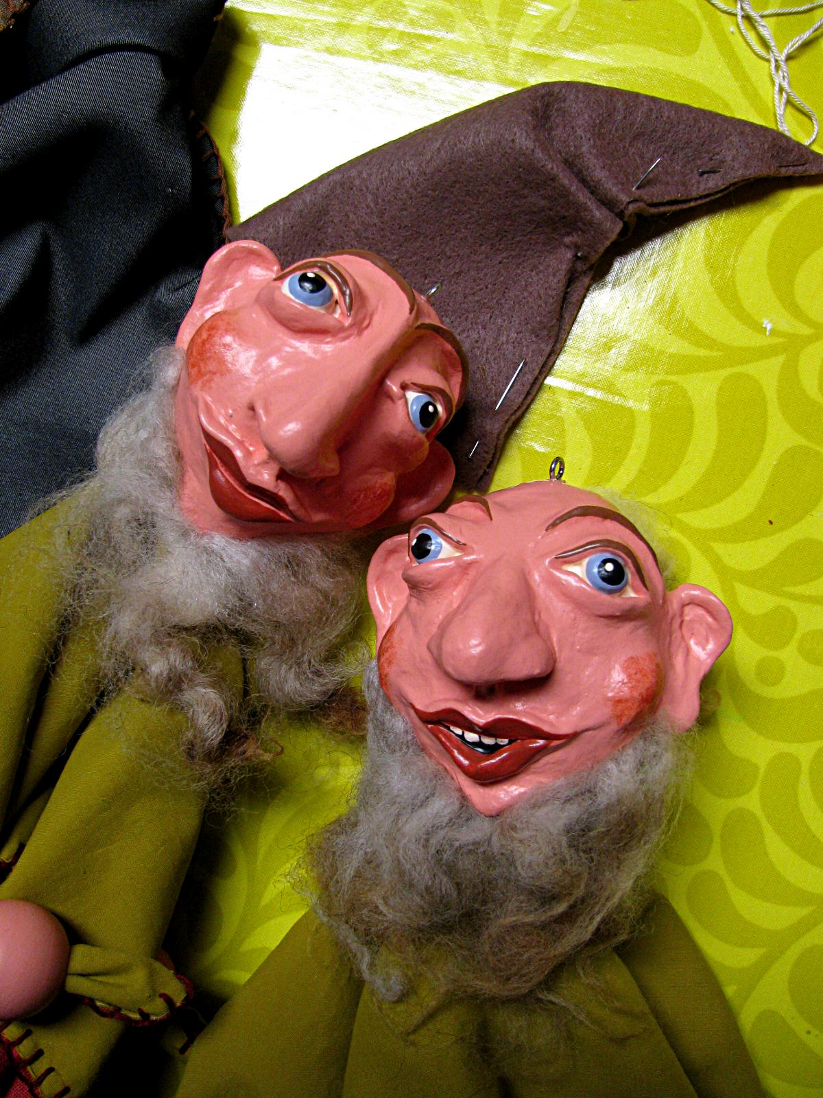 Christiane Drieling: dwarf marionettes, works in progress