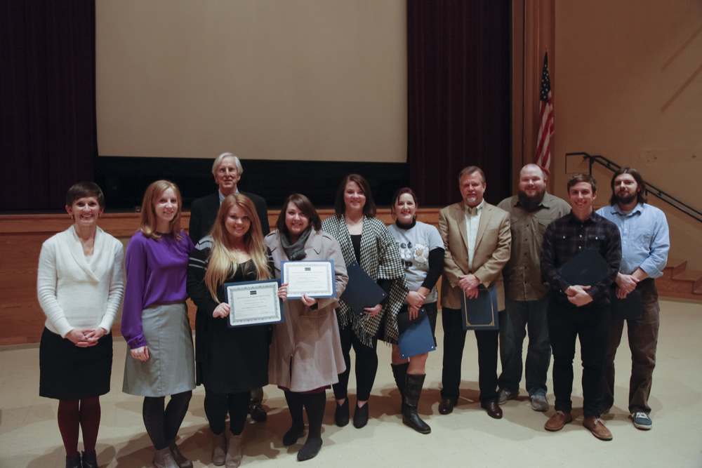 NCLAC staff and Board President with 2013 President's Award Winners
