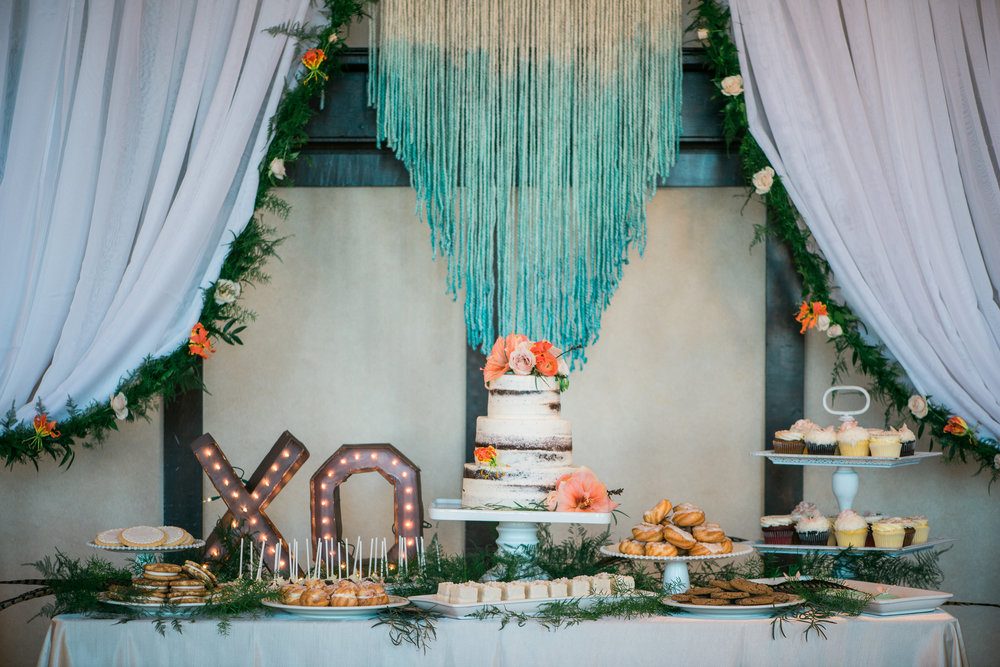 Boho Dessert Table Spring Wedding