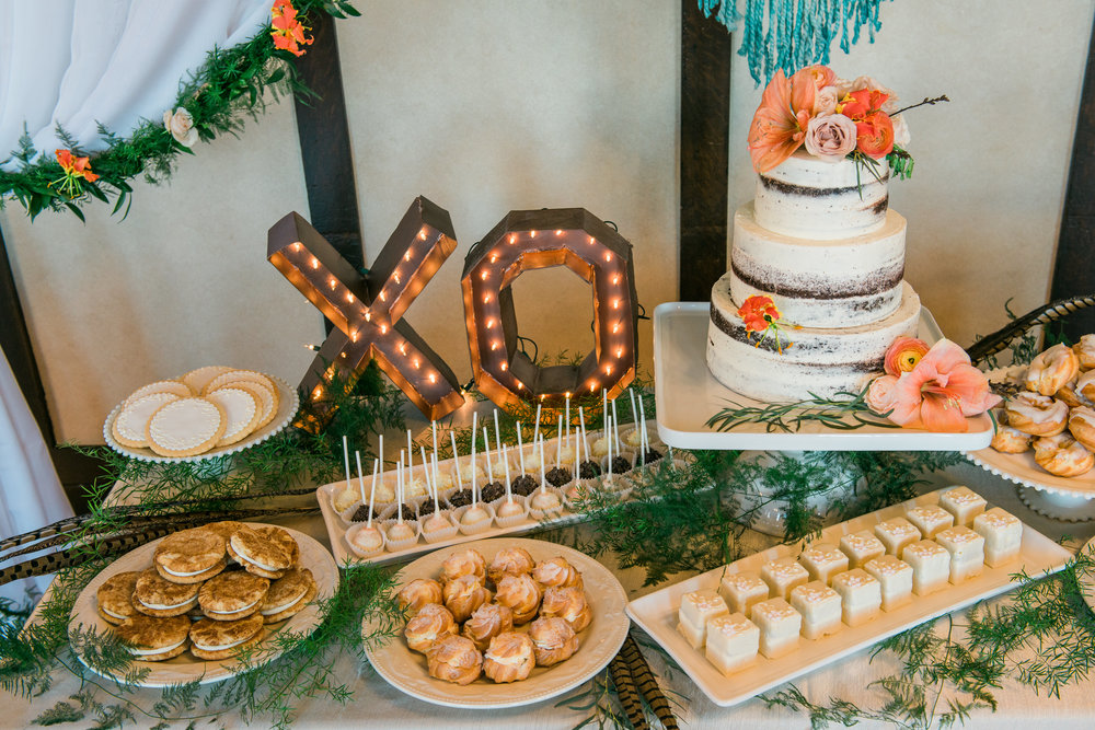 Spring Wedding Dessert Table