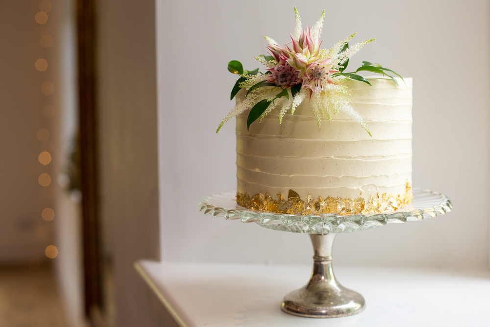 Gold Leaf Bakery Buttercream Cake
