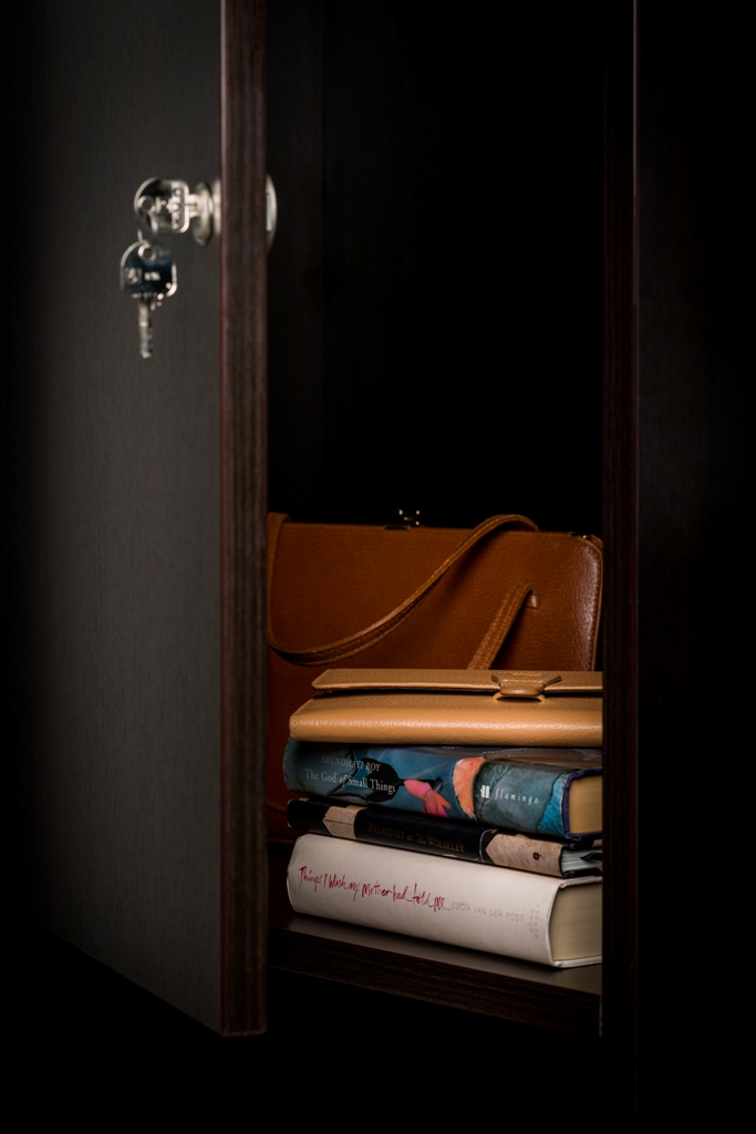 Built-in cupboard with lock  For those personal documents and possessions you want to keep under lock and key.