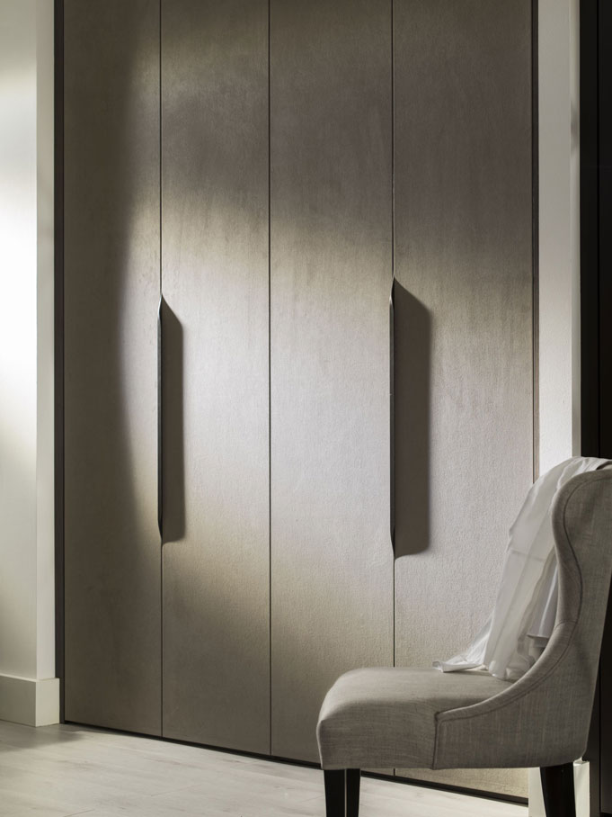 Grey Fabric Doors