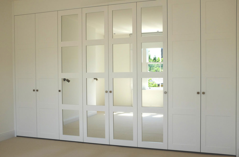 White Matt Lacquer Shaker Doors with Silver Mirror