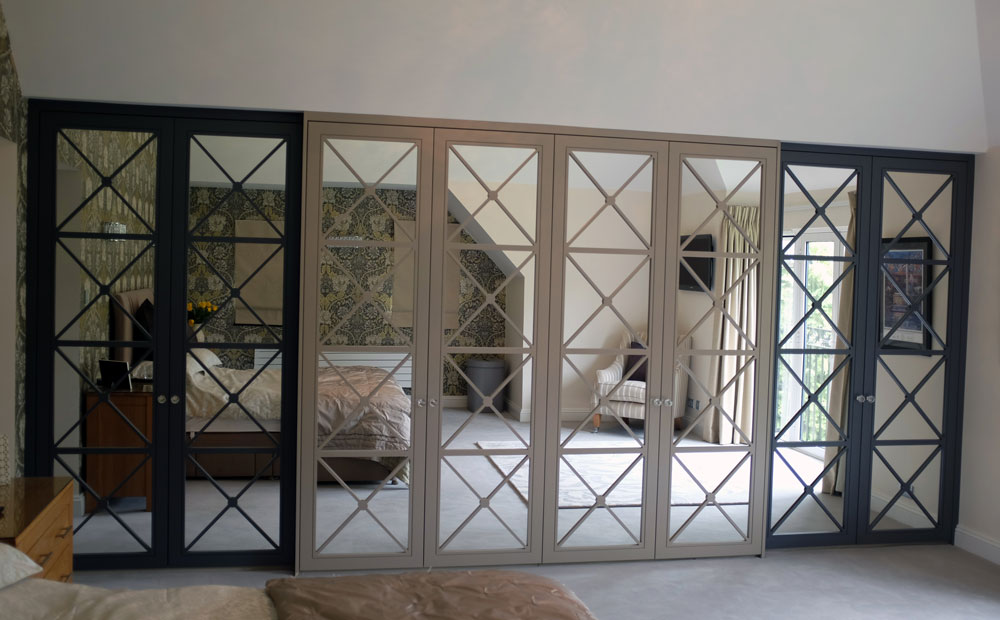Heritage Doors in Graphite and Dark Dove Grey