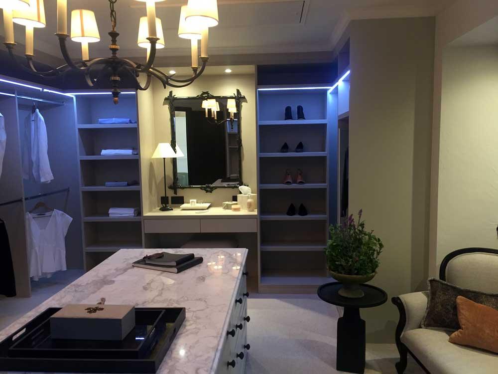 Linen Dressing Room with Shaker Doors