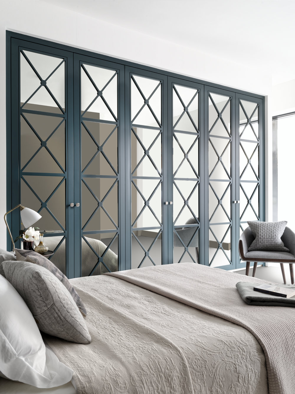 AfterEight Castille Doors with Silver Mirror