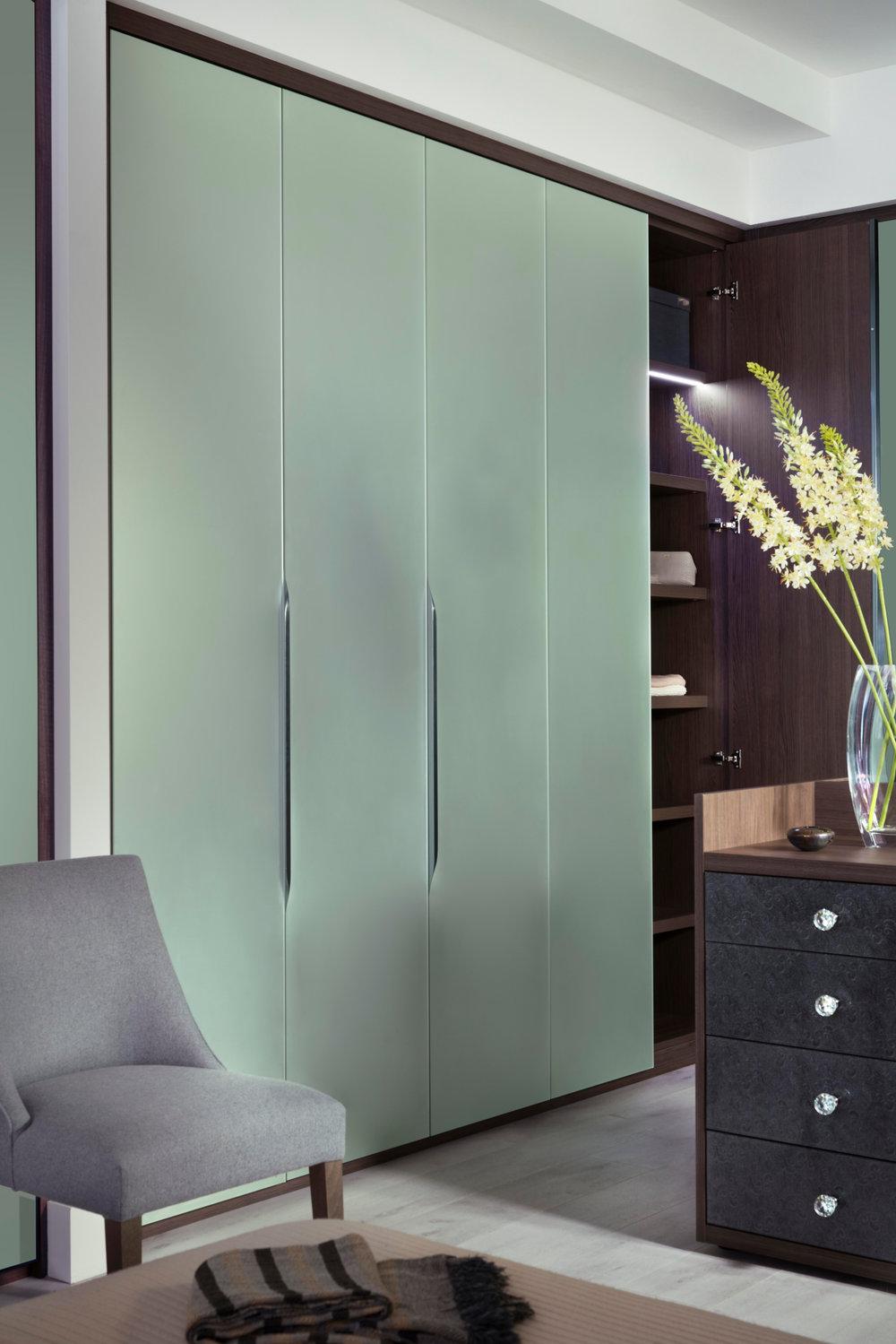 Satin Silver Mirror Doors